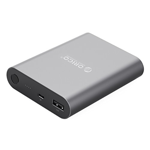 ORICO 10400 mAh Portable Power Bank External Battery with Quick Charge 2.0 Compatible with Samsung, iPhone, iPad and Tablets