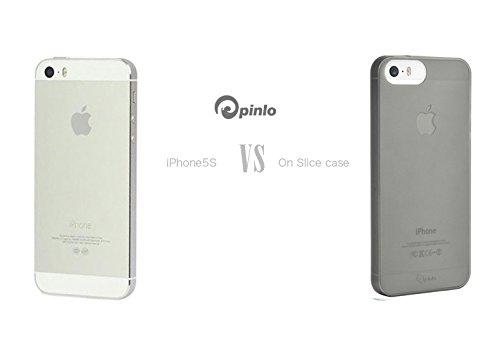 Pinlo Slice téléphone Noir transparent Coque Housse Pour iphone 5S