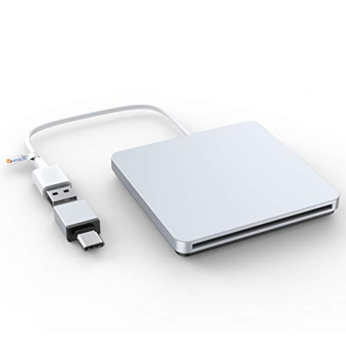 External DVD CD Drive, USB C USB External Superdrive Burner Optical Drive CD RW DVD RW Disc Duplicator Compatible with Mac MacBook Pro Air iMac and Laptop