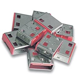Lindy USB Port Blocker - Pack of 10, - Pink 40460