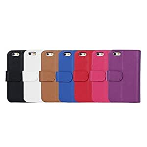 DUR Natusun ? Litchi Pattern Full Body Case with Wallet and Bracket for iPhone 5/5S (Assorted Colors) , Pink