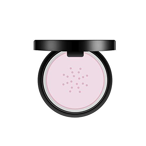 (CIBBCCI Loose Power Translucent Face Makeup Set 1.7 oz, Oil Control Loose Matte Foundation Powder With Puff Mirror (01 Pink))