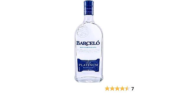 Ron Dominicano Barceló Platinum Botella 700 Ml: Amazon.es ...