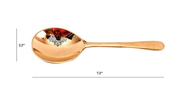 IndianArtVilla bronce utensilios cuchara | para servir arroz vegetal home hotel restaurante vajilla: Amazon.es: Hogar