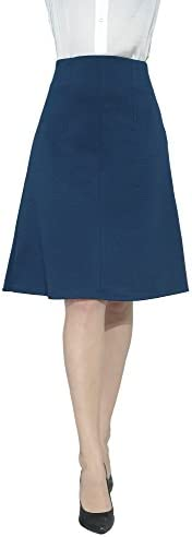 Marycrafts Women's Work Office Business Knee Flared A Line Skirt