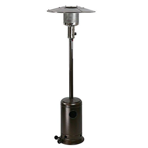 XtremepowerUS 48,000 BTU Premium Floor Standing Propane Outdoor Patio Heater (Bronze Hammered)