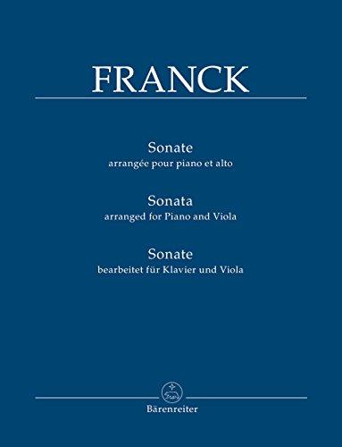 Sonate A-Dur (bearbeitet für Klavier und Viola): Partitur