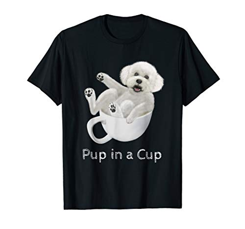 Cavachon Puppy in a Teacup T-Shirt