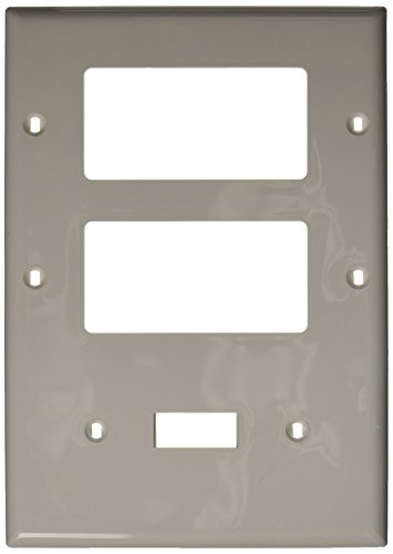 Leviton Decora Nylon 3 Gang - Leviton 80731-W 3-Gang 1-Toggle 2-Decora/GFCI Device Combination Wallplate, Thermoplastic Nylon, Device Mount, White