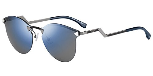 Sunglasses Fendi 40 /S 0LQJ Dark Ruthenium / Black / XT blue sky miror lens