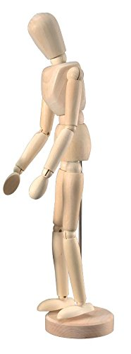 Alvin Wooden Human Mannequin (Unisex) 12 Inches Tall