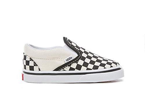 Black Baby Vans - Vans Toddler Classic Slip-On Black&White Checkerboard