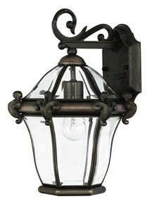 Hinkley 2440CB Traditional One Light Wall Mount from San Clemente collection in Copperfinish, San Clemente Outdoor Lantern