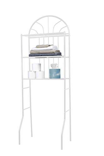 Home Basics SS10058 Bathroom Shelves Space Saver, White