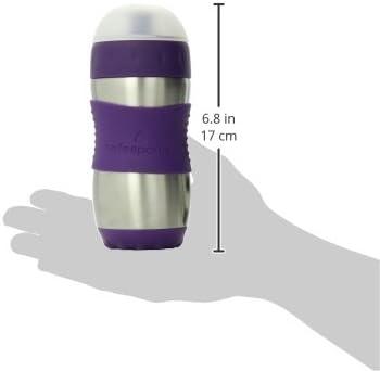 color morado Botella infantil con boquilla Kid Basix KB-SafeSporter 355 ml