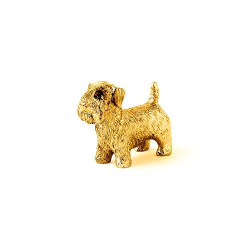 (Sealyham Terrier Made in UK Artistic Style Dog Figurine Collection 22ct Gold Plated)