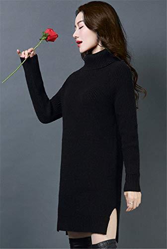 Lana Cashmere Maglia Abito Da Cwxdian In Donna Di Maglione Nero FI1wqYn8nx