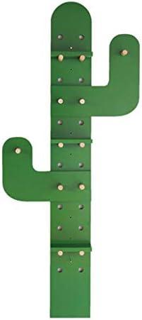 陳列棚は ぶら下げディスプレイラックサボテン壁コートラックホーム壁の装飾棚収納とぶら下げ2 in 1デザイン便利な収納|緑 DSJSP