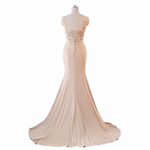 Formale Lange Spitze Pailletten Frauen Stickerei King's Meerjungfrau 7 Brautkleid Love Abendkleid Hwpwf7q