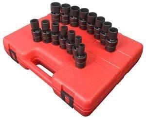 Sunex 2855 1/2-Inch Drive Universal 12-Point Metric Universal Impact Socket Set, 15 Piece by Sunex