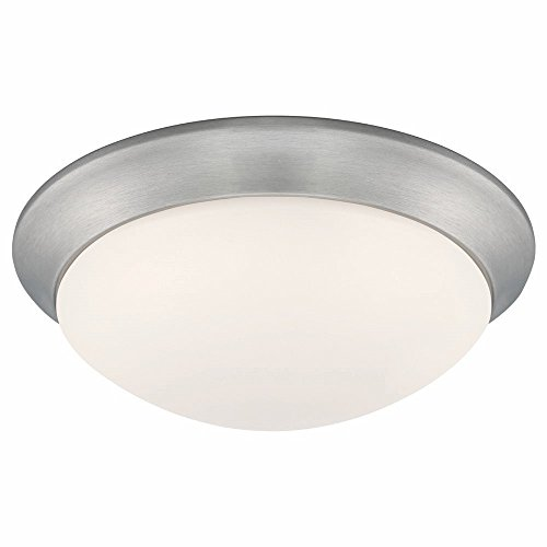 Designers Fountain EVLED1022-35-DF Modern Brushed Nickel LED Flush Mount with Frosted White Glass, 11'' by Designers Fountain