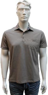 Hombre trapero Polo-shirt, cuerpo en forma con botón, 526994/020 ...