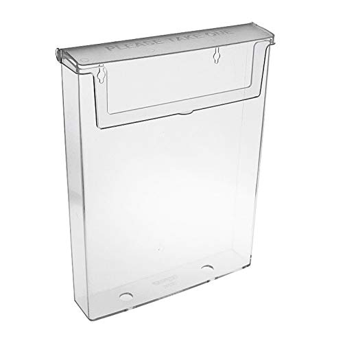 Flyer-Box Din A4 Wandmontage//Prospektst/änder Prospekthalter//Wetterfest Werbung f/ür Aussen//Aufsteller