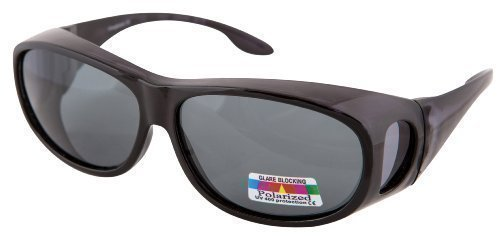 prescription oakley sunglasses uk 678m  BLACK POLARISED OVER GLASSES SUNGLASSES WEAR OVER PRESCRIPTION GLASSES