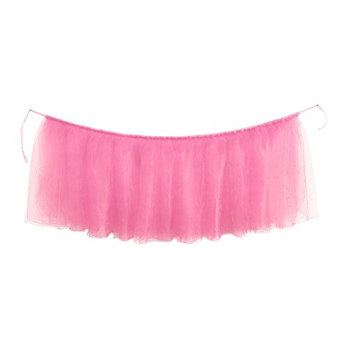 AKwell Tulle Table Skirt for Rectangle Tables or Round Table Fluffy Tutu Table Skirt High-end Gold Brim Table Skirting for Party,Wedding,Birthday Party&Home -