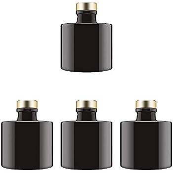 Amazon.com: Feel Fragrance Black Glass Diffuser Bottles