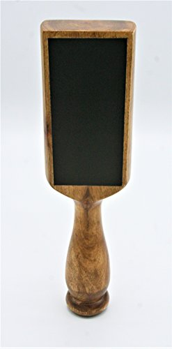 Natural Stained Chalkboard Beer Tap Handle Display Made of Wood for Homebrew, Kegerators, or ()