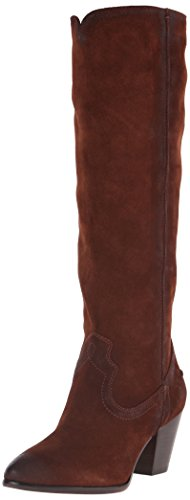 Frye Botas de Renee Tall con costuras para mujer Brown-72068
