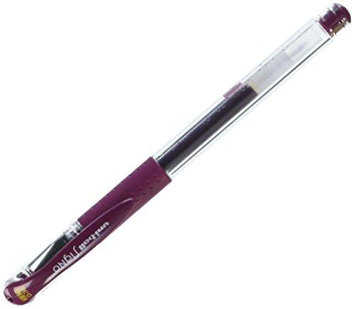 Uni Gel Ballpoint Pen Uni-Ball Signo Extra Fine 0.38mm, Bordeaux Black - Black Bordeaux