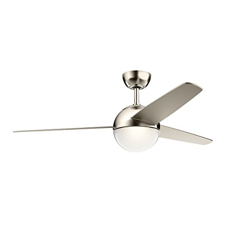 Kichler Lighting 300710PN Bisc Modern Ceiling Fan, 56
