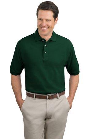 Port Authority Men's Port Authority Pique Knit Polo. K420 XXL Dark - Golf Cotton Shirt Pique Combed