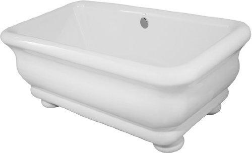 Hydro Systems MDO7036ATO-WHI Donatello 70x36 Tub Only Acrylic and Fiberglass Rectangular Freestanding Bathtub 99999 Piece]()