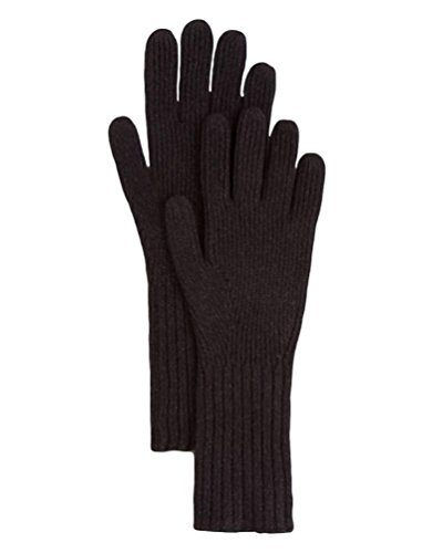 Burberry London Men's Black Cashmere Rib Knit Gloves by BURBERRY