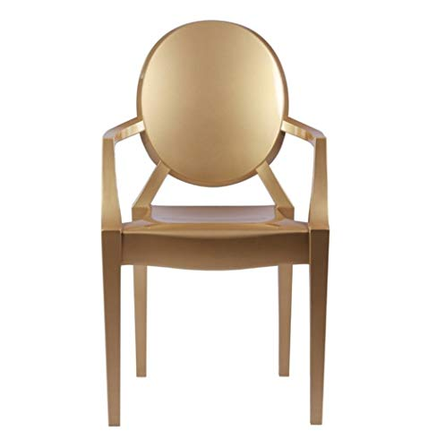 Louis Ghost Armchair Dining Chair, Gold