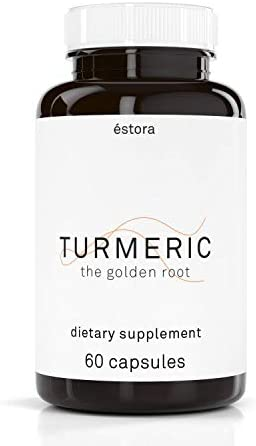 ESTORA Turmeric Antioxidant Natural Supplement 60 Vegetable Capsules