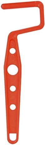 uxcell ミニペイントローラーフレーム7.6cmプラスチックグリップ壁画修理レッド