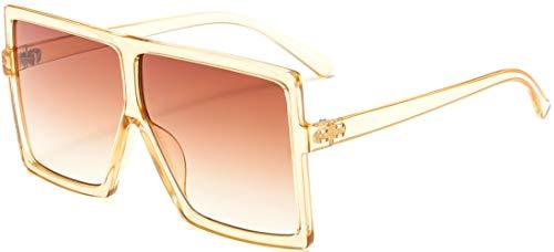 8df1d2cc575 MAOLEN Oversized Square Polarized Sunglasses for Women Men Flat Top Shades  Sunglasses