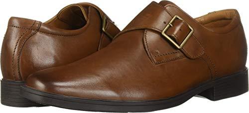 Clarks Men's Tilden Style Monk-Strap Loafer, Dark tan Leather, 7.5 M US