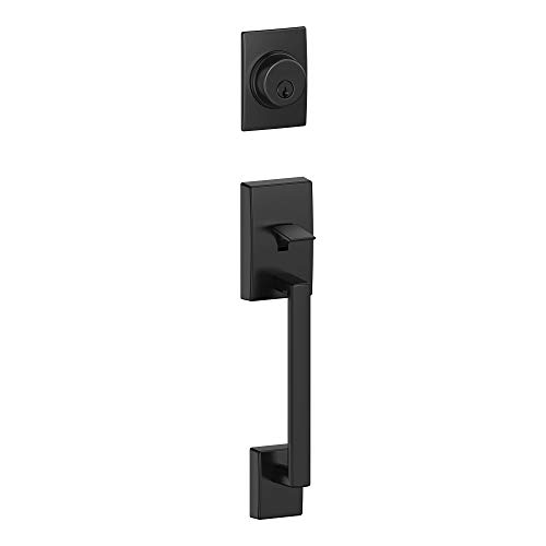 Schlage F92-CEN Century Dummy Exterior Handleset from The F-Series, Matte Black