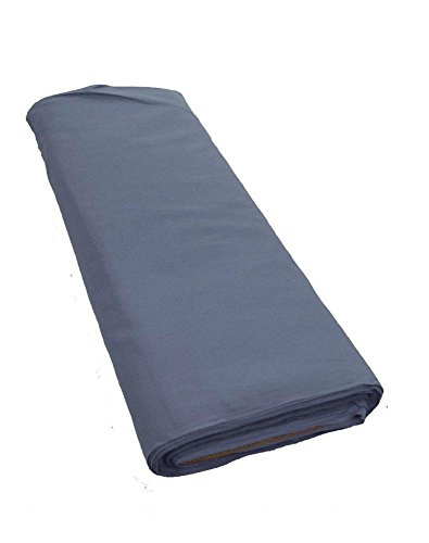 """Gray Broadcloth Fabric 45"""" Cotton Polyester Blend - 10 Yard Bolt Folded"""