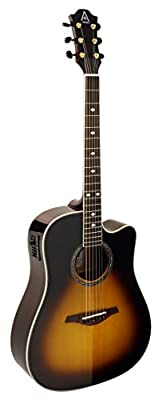 Hohner Guitars A+ by Hohner AS355CE-TSB Acoustic-Electric Guitar, ,