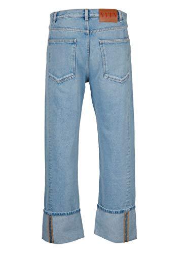Bleu Valentino Coton Jeans Rv3de00cuhi508 Homme aBawqY8R