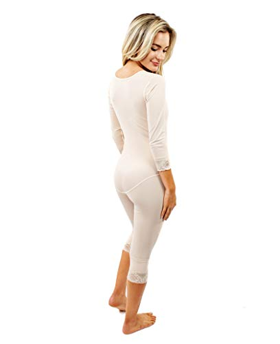 d8234d03868 ContourMD Full Body Shaper for Women w Sleeves Mid Calf Compression ...