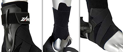 Zamst Ankle Brace Support Stabilizer: A2-DX Mens & Womens Sports Brace for Basketball, Soccer, Volleyball, Football & Baseball ,Black,Left,Medium