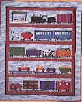 Train Pattern (The Country Quilter Pattern CQ150 All Aboard Train Theme Quilt)