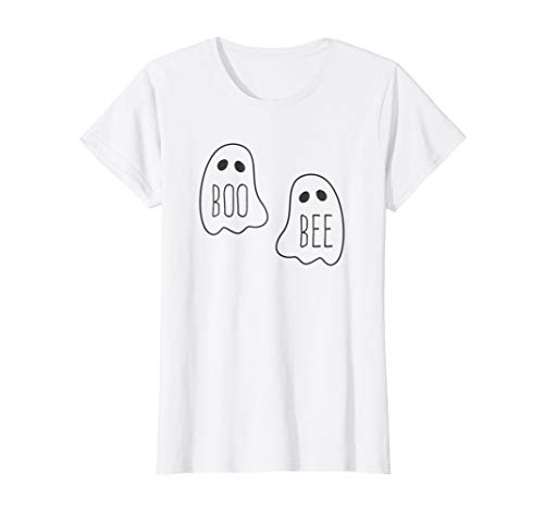 Womens Boo Bee T-Shirt Halloween Ghost Funny Costume